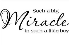 Amazon.com: Such A Big Miracle In Such A Little Boy vinyl lettering wall saying home decor quote decal art sticker: Home & Kitchen