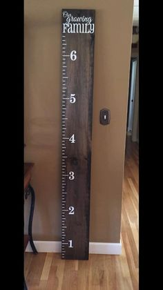 Wood Growth Chart Ruler Personalized Our by TweetHeartDecor