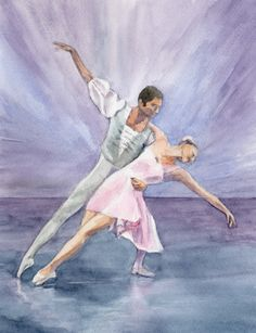 Gallery of Paintings and Cards - SylviaTwiss Ballerina Art, Dance Art, Ballet Dancers, All Art, Watercolor Art, Watercolours, A5, Gallery, Drawings