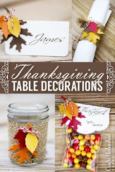 Make these elegant Thanksgiving Table Decorations with just one die cut and tons of possibilities! #plumpicks #bakerstwine