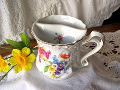 Antique Tea Mug Coffee Mug Flower Garden Mug Tea by cynthiasattic, $29.00