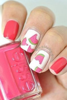 Watermelon nail art makes for the cutest manicure we've ever seen.