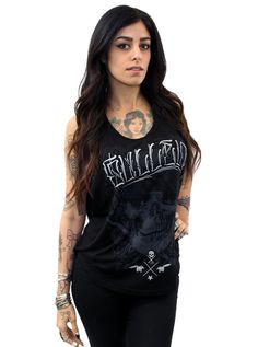 """SA """"Hard Pocket"""" Muscle Tank by Sullen Clothing (Black) #InkedShop #womenswear #womens #top #graphictee"""