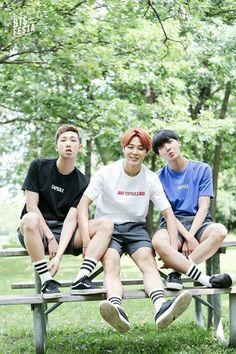 B T S * 3rd Anniversary Family Picture * BTS Festa 2016 * Rap Monster x Jimin x J-Hope #Bangtan #Boys #방탄수년단 #BigHitEnt #2016   @kaylaaaq