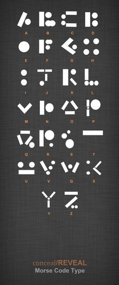 "Here is another concept font I created while working on the ""Conceal/Reveal"" brief. After looking into hidden messages and code, I concentrated on Morse code and thought about how each dot and dash..."