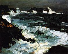 Rough Seas near Lobster Point, 1903 - Robert Henri