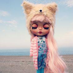 Image result for blythe doll light pink hair