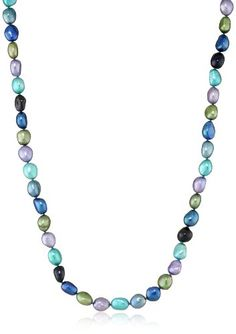 Honora %22Peacock%22 Freshwater Cultured Pearl Necklace%2C 36%22