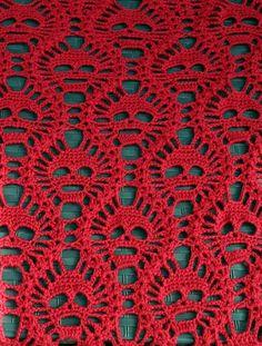 Lost Souls Skull Shawl pattern by Maryetta Roy by Iva L Yelvington Crochet Skull Patterns, Crochet Stitches Patterns, Stitch Crochet, Filet Crochet, Crochet Gifts, Crochet Doilies, Granny Square Pattern Free, Free Pattern, Crochet Shawls And Wraps