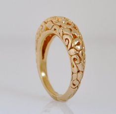 Jewelry OFF! Engraved Unique Gold Band Solid Gold Wedding Band Fine Jewelry Ring Wide Band for a Woman Gold Ring Designs, Gold Bangles Design, Gold Earrings Designs, Gold Jewellery Design, Geode Jewelry, Gold Rings Jewelry, Fine Jewelry, Gold Wedding Rings, Wedding Bands