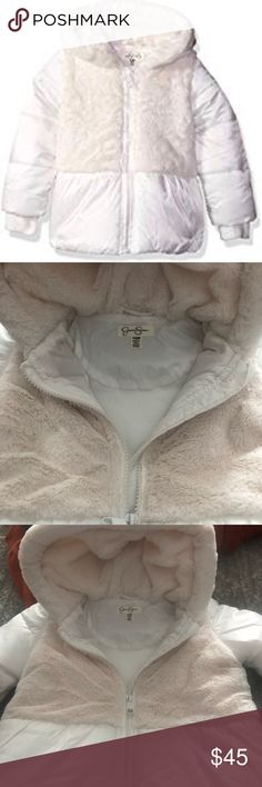 Jessica Simpson Baby Girls Satin Peplum Puffer Jacket