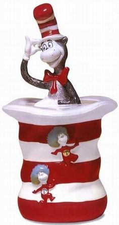*CAT IN THE HAT ~ Cookie Jar: