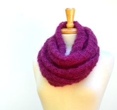 Fuchsia Knit Shawl Deep Pink Summer Wrap or Scarf by Easy123, $48.00