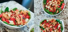 STRAWBERRY & SPINACH SALAD by HouseofRoseBlog.com - Healthy Eating