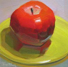 """""""Big Red"""" - Original Fine Art for Sale - © Robin Rosenthal"""