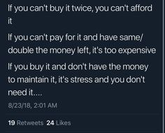By this logic, I cant afford basic groceries, my school books, or the electric bill. Simple Life Hacks, Useful Life Hacks, Life Advice, Good Advice, Life Tips, Life Skills, Life Lessons, Instagram Hacks, College Life Hacks
