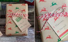 Reindeer Gift Wrap from Ellinee on Cool Mom Picks