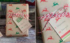 Christmas Reindeer Printable Gift Wrap Paper