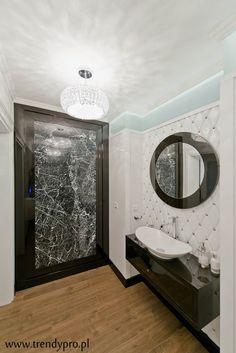 Jasna łazienka w stylu glamour - Architektura, wnętrza, technologia, design - HomeSquare