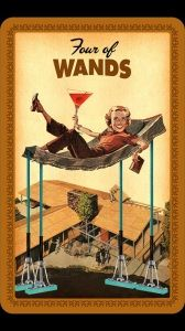 What do you think your family thought you might grow up to be? Housewives Tarot 4 of Wands