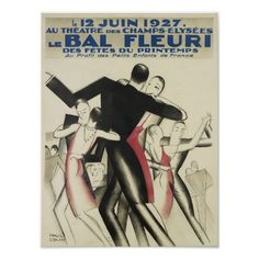 Vintage Poster of French Dancers, Ballroom