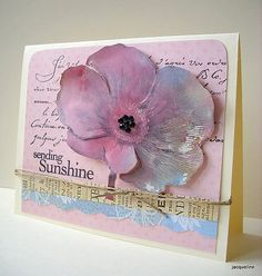 watercolor with distress inks --Layer an acrylic block w/3 different distress colors, Aged mahogany most dominant, w/blue & brown. Spray w/H2o and cover image w/the inks face down. Dry & cut out.-Jaqueline
