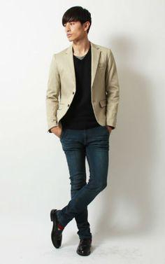 ベージュジャケット : メンズファッション初心者必見!!今年手に入れたい定番アイテム - NAVER まとめ