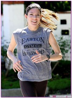 "I don't know if I could ever smile while in the middle of a run...afterwards, maybe! {jennifer carpenter from ""Dexter""}"