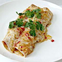 Lightened-Up Chicken Enchiladas....must have a go!