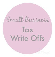 Small Business Tax Write Offs via blogICB                                                                                                                                                                                 More