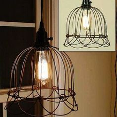 Small Wire Bell Hanging Pendant Lamp