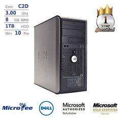 Dell OptiPlex 780 Tower/Core 2 Duo 3.00 GHz/ 8GB DDR3 / 1TB HDD/DVD+RW/WINDOWS 10 Pro (Certified Refurbished) #Dell #OptiPlex #Tower/Core #GHz/ #HDD/DVD+RW/WINDOWS #(Certified #Refurbished)