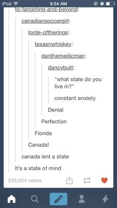 CANADA<~~ lol her username says Canadian soccer girl Funny Quotes, Funny Memes, Hilarious, Jokes, Funny Tumblr Posts, My Tumblr, Just In Case, Just For You, Lol