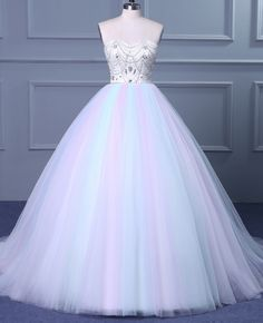 Cheap wedding dresses ,Strapless Sweetheart Colorful Wedding Gown