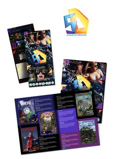 Брошюры и буклеты для кинотеатра 5D – Разработка логотипа и печатной продукции для кинотеатров в формате 5D
