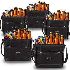 12-pack Cooler Totes Set of 5  Personalized by OriginalMancaveShop