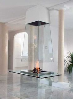 glass fireplaces for modern interiors