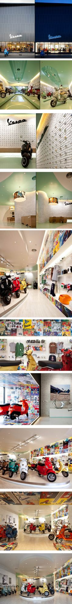 Vespa Gallery by Supermachine Studio, Bangkok – Thailand.