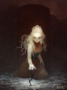 JANAINA @janainaBrazil Posted 2014-11-18 21:06:37 UTC Fanart of Daenerys Targaryen (ASoIaF) © George R R Martin