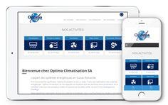 Optima Climatisation fait confiance à l'agence Web4 pour la création de son nouveau site web www.optima-climatisation.ch en ligne maintenant! Site Web, Baby Born, Fishing Line, Simple