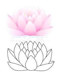 plantillas de flores de loto - Buscar con Google