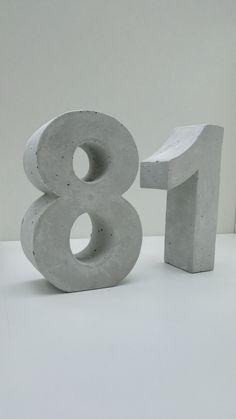 hausnummern nr 3 hausnummer aus beton betonzahl. Black Bedroom Furniture Sets. Home Design Ideas