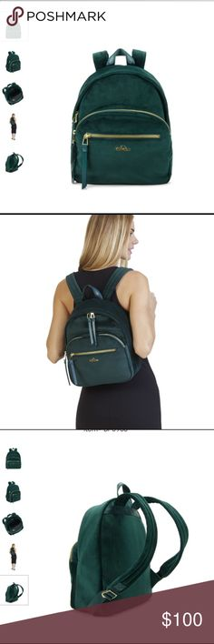 🔥BRAND NEW KIPLING BACKPACK!🎉 This emerald green velvet backpack with gold accents is so adorable. It is so soft, is so roomy & so cute. It's never been worn & comes from a smoke free, pet free home. It will make a great statement bag! 🎉 originally $160 Kipling Bags Backpacks