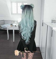 Resultado de imagen para pastel hair dark outfit
