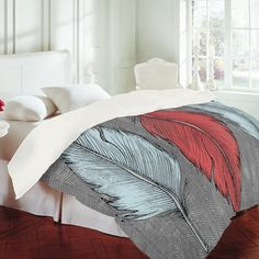 DENY Designs Home Accessories | Wesley Bird Feathered Duvet Cover on Wanelo