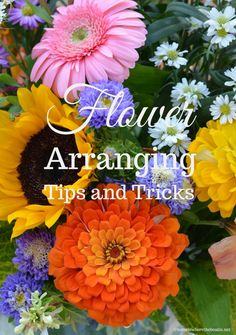 Flower Arranging Techniques, Tips and Tricks using flowers from the garden or grocery store!   ©homeiswheretheboatis.net Flower Centerpieces, Floral Arrangements, Flowers, Crafts, Manualidades, Flower Arrangement, Flower Arrangements, Handmade Crafts, Royal Icing Flowers