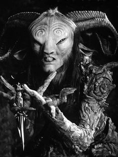 Pans Labyrinth, fantastic character and if there is one who understood me ..it s this character...this very one somewhere living in the back of my secret garden.