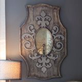 Aidan Gray Decor Wooden Mirror Fleur de Lis