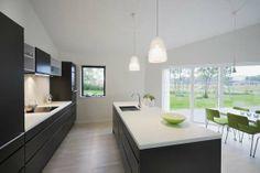 Satin black cabinets contemporary kitchen