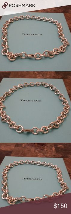 "Tiffany & Co. Link necklace Tiffany & Co. sterling silver 925 16"" link necklace.  Add your own charms.. Tiffany & Co. Jewelry Necklaces"